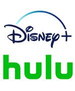 Disney plus, Hulu Logos